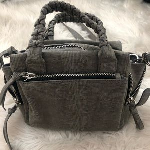 Free People Vegan Leather Gray Pebbled Bag